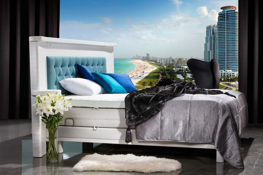 Diamond Adjustable Platinum Headboard